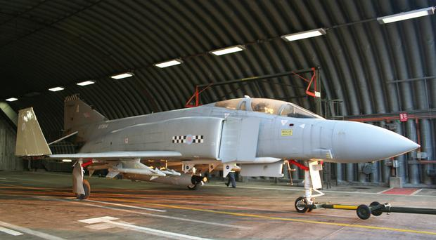 The Ulster-bound Phantom in a hangar. It's expected to arrive by the end of March