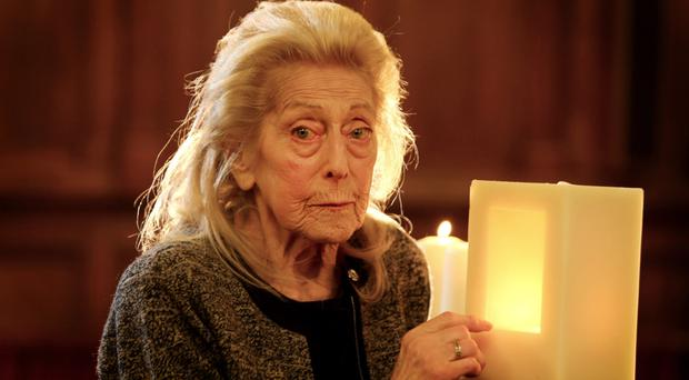 Holocaust refugee Inge Radford lit a candle to commemorate the 70th anniversary of the liberation of Auschwitz