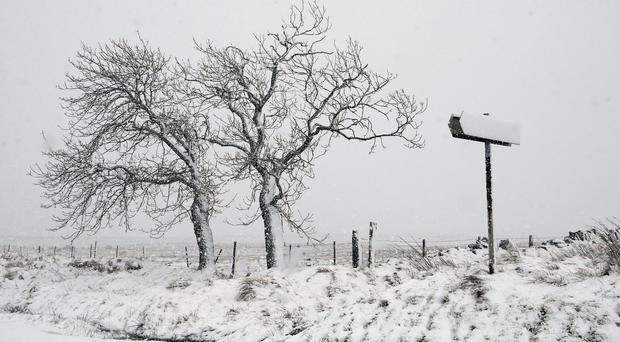 Snow has already fallen across large parts of the country