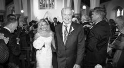 Kelly and Fintan Seeley were married at St Canice's Church in Clough, Co Laois