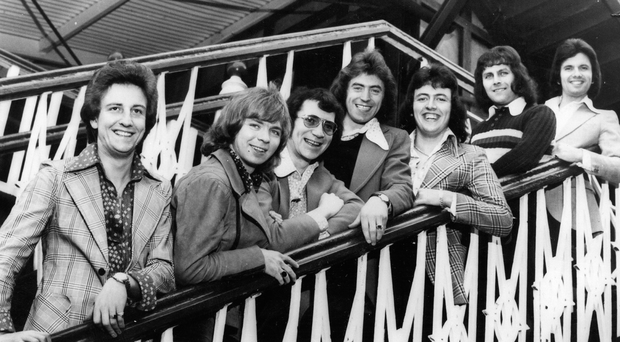 The Miami Showband pose for the camera back in 1972