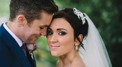 New husband and wife Cathal and Kerri-Anne on their wedding day