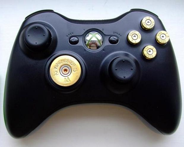 The video games controller with customised buttons