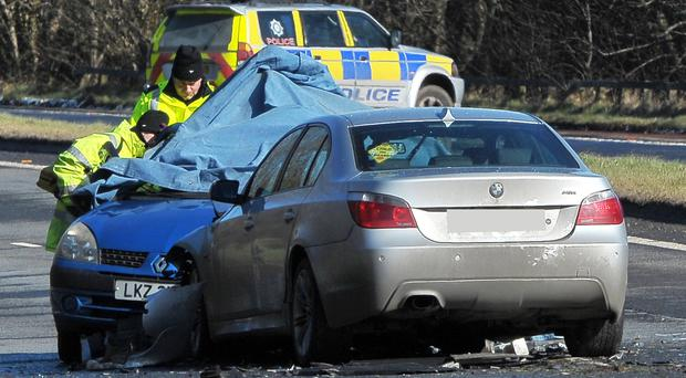 The fatal crash on the A1 near Banbridge yesterday