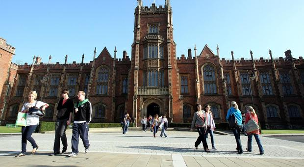 A study looked at the economic impact of institutions such as Queens University in Belfast
