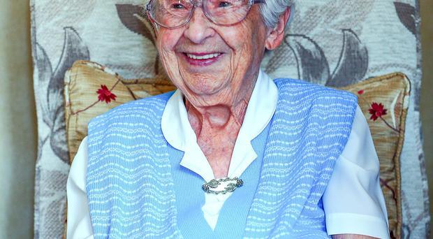 Ellie Lawther who will celebrate her 106th birthday today