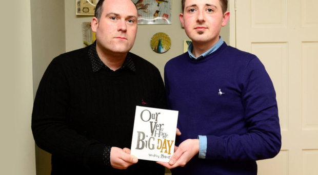 John Kierans and Jonathon Brennan pictured at home in Drogheda