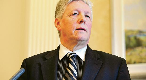 The frustration is etched on the face of First Minister Peter Robinson as he considers the latest crisis to befall Stormont
