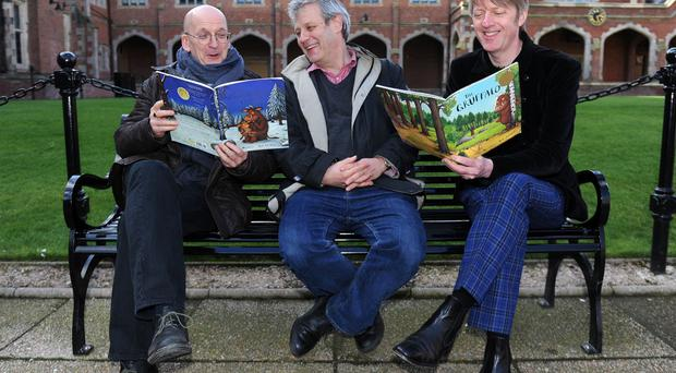 Novel approach: writers, from left, Roddy Doyle, Axel Schffler and Glenn Patterson