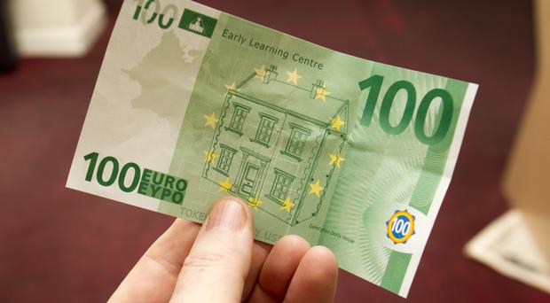 The €100 note that was handed over at the takeaway in Newry