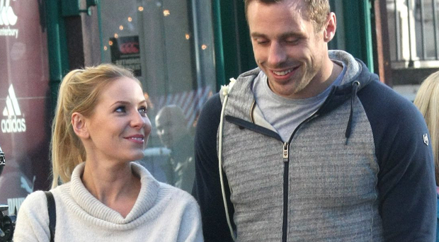 Tommy Bowe and Lucy Whitehouse out shopping