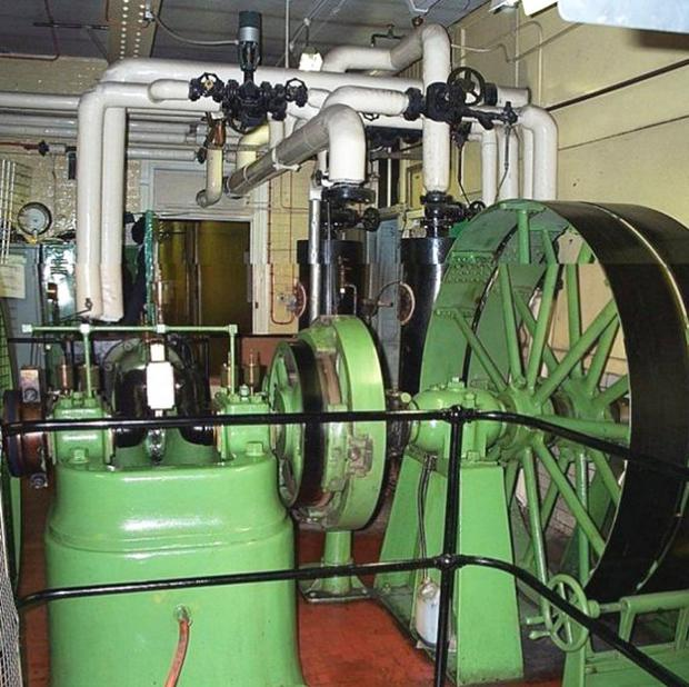 Retained: The steam engine that heated the College Square East Met College building