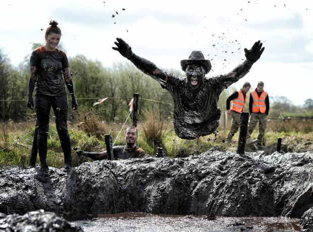 A competitor takes part in a wacky charity race at Foymore Lodge in Portadown by Charles McQuillan