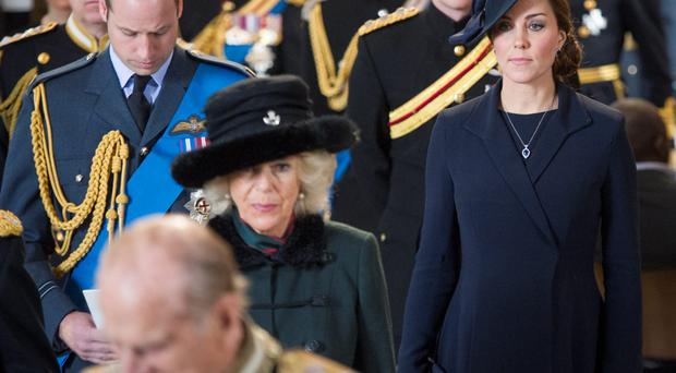 William and Kate are surrounded by members of the royal family at the Service of Commemoration at St Paul's Cathedral