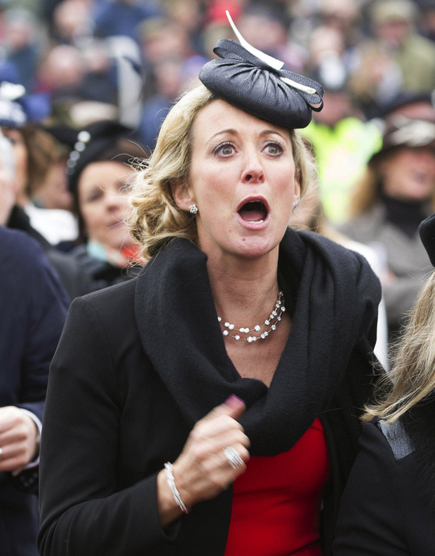A welter of emotion is etched on Chanelle McCoy's face as she watches husband Tony's last ever Cheltenham ride