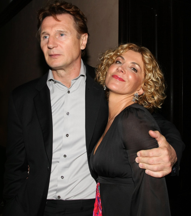 Liam Neeson and his late wife Natasha Richardson on the red carpet in 2008