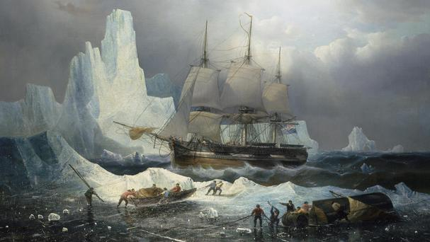A painting of HMS Erebus which was discovered after almost 170 years (National Maritime Museum London)