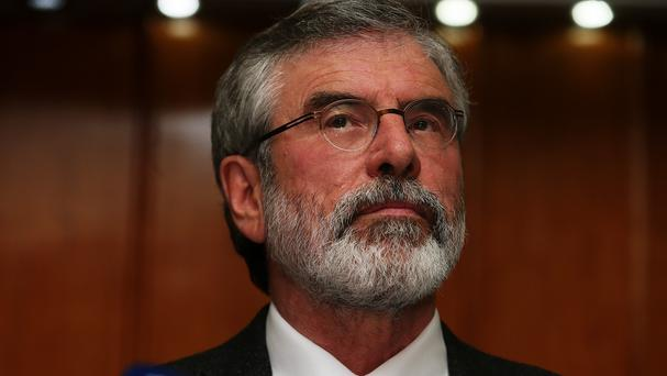 Gerry Adams has travelled to the US