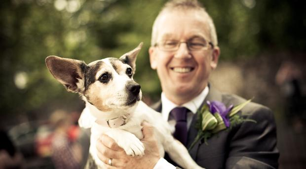 Jeff Faulkner with Mel who was savaged to death in a boarding kennel