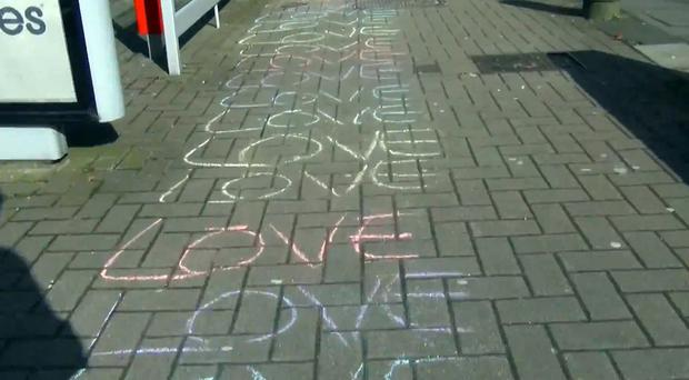 Some of the words he wrote on the street