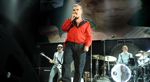 Morrissey on stage at The Odyssey on Tuesday night