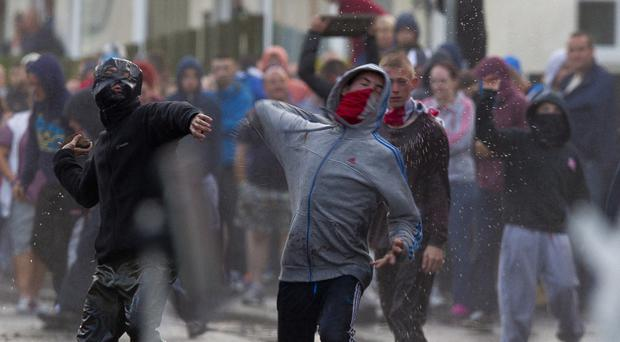 Scenes of confrontation on the streets of Belfast