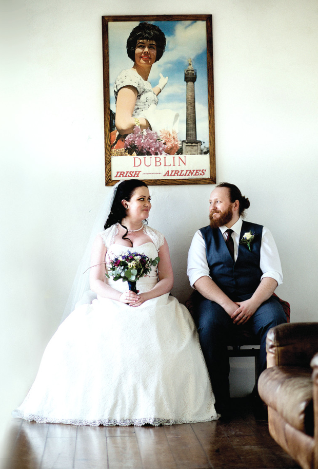 Aoife and Dave Magee held their humanist wedding at Bellinter House, Navan