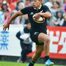 All Black Charles Piutau in action on the rugby pitch