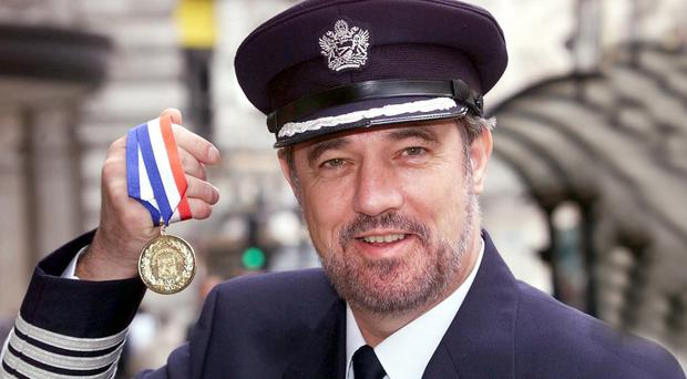 Brave act: Captain Bill Hagan who fought off a suicide hijacker during a flight