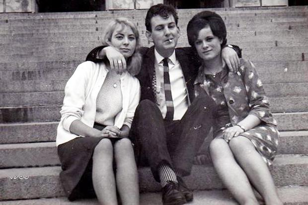 Victor Humphreys with sisters Marie Maxwell (left) and Ina Maxwell on Stormont's steps in 1965
