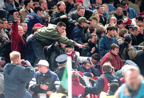 15 Febuary 1995, England Fans in Lansdowne Road