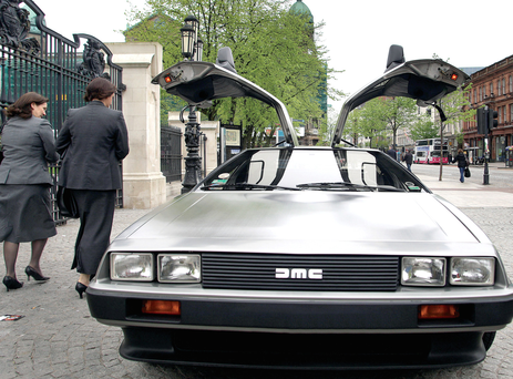 The showstopping DeLorean sports car with its distinctive gull-wing door