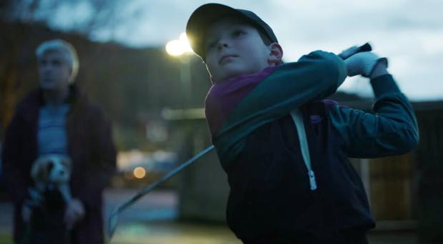 Advert shows a young Rory McIlroy working on his strokes