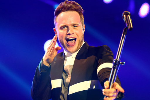 Olly Murs performs during his concert in the Odyssey Arena in Belfast last night