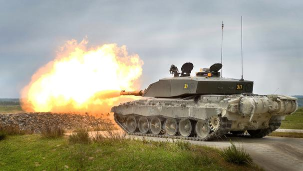 A Challenger II is among the vehicles the Army is bringing to Northern Ireland for its latest recruitment drive (MoD/PA)