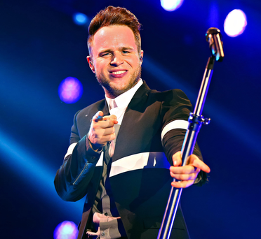 Olly Murs performing at the Odyssey