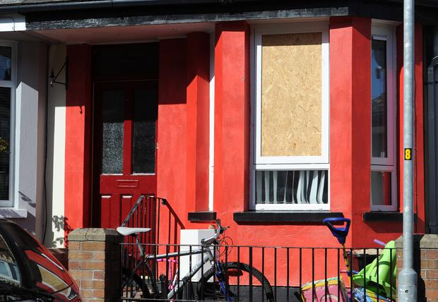 A house targeted in Mountcollyer Avenue, north Belfast