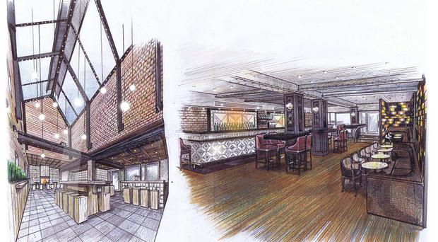 An artist's impression of some of the planned changes to the bar