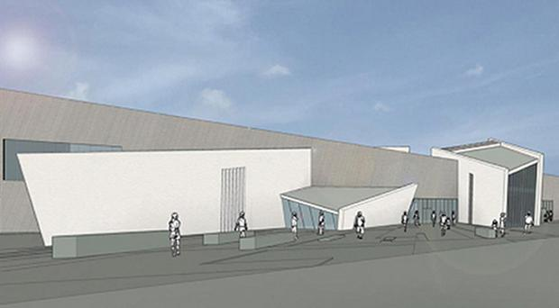 An artist's impression of how the Peace Building and Conflict Resolution Centre at the Maze could look