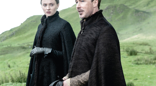 Sophie Turner and Aidan Gillen in the eagerly anticipated season five of Game of Thrones