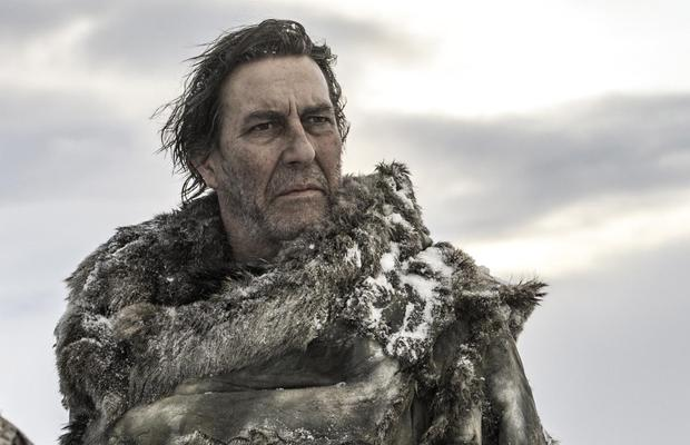 Belfast actor Ciaran Hinds as Mance Rayder, who died in last night's episode