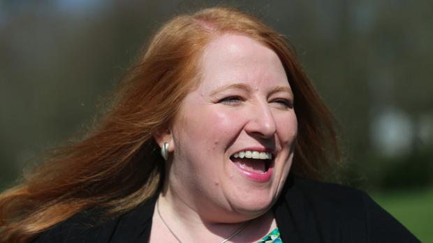 Alliance candidate Naomi Long on the campaign trail in Belfast East