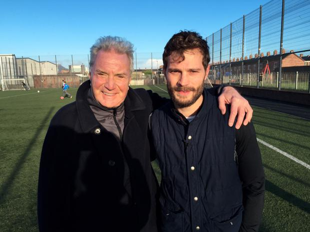 Proud father: Jim Dornan with his actor son Jamie