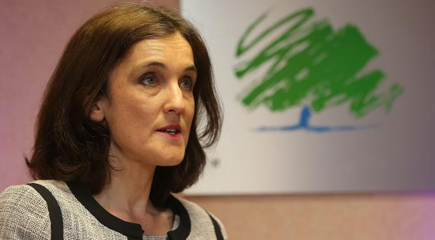 Theresa Villiers at the Northern Ireland Conservatives' manifesto launch at Andras House in Belfast.