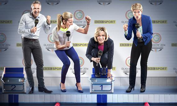BBC Sports Personality of the Year presenters Gary Lineker, Gabby Logan, Hazel Irvine and Clare Balding