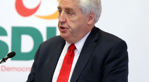Alasdair McDonnell at his party's manifesto launch last week