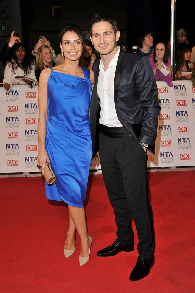 Christine Bleakley with with her footballer fiance Frank Lampard.