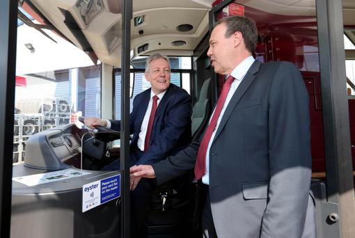 Peter Robinson and Nigel Dodds at the launch yesterday