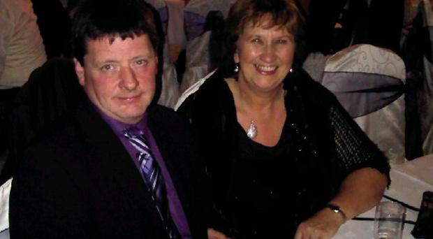 SDLP Westminster candidate Dolores Kelly and her husband Eamon, who is recovering from a heart attack