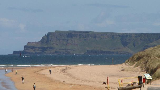 The coast of Portrush in Co Antrim, as a coroner recorded a verdict of drowning after 25-year-old Stephen Pentony got into difficulties while body-boarding
